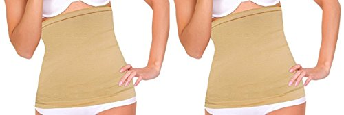 - DIDI USA Extra-Wide Nude Detox Stomach Wrap (Set of 2)