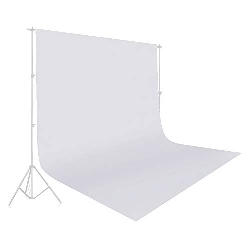 UTEBIT 10x12 White Polyester Fabric Photography Backdrop Large 3x3.6M Headshot Photo Background Wrinkle Resistant Collapsible Vinyl Muslin Backdrops Screen for Video Studio Portrait Shooting