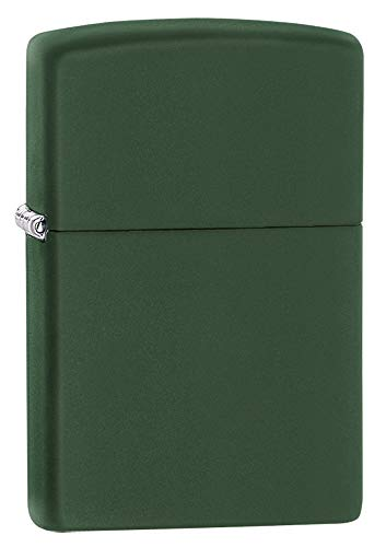 (Zippo Pocket Lighter, Green Matte)