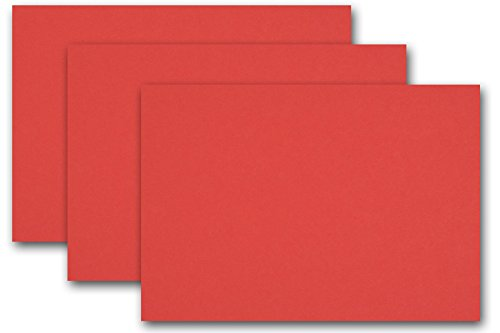 Rh Stock (Premium Colored Blank 4x6 Card Stock (50 Pack, Red Hot))