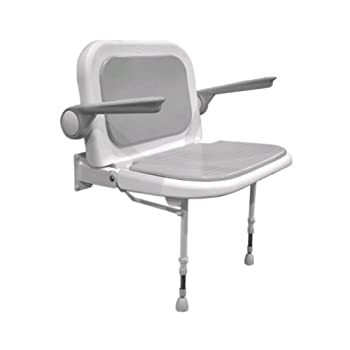 Image of ARC DS4240-GR Deluxe Wide Seat with Back and Arms, Gray