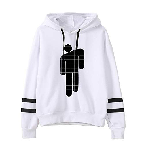 VINHAN I Dont Wanna Be You Anymore Billie Eilish Hoodie White Casual Hooded Cotton Merch for Women Men Girls Boys Pullover (S, White A)