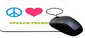Rikki KnightTM Peace Love Speech Therapist Design Lightning Series Gaming Mouse Pad