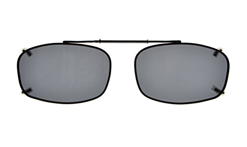 UV Protection Polarized Lens Clip On Sunglasses 57mm Wide x 41mm Height ()