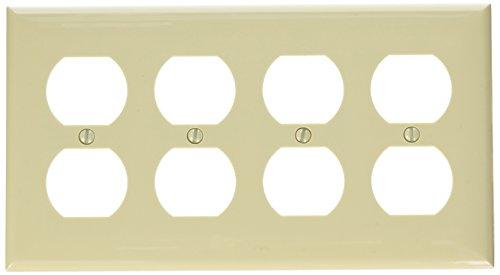 Morris 81440 Lexan Wall Plate, Decorative/GFCI, 4 Gang, Ivory ()