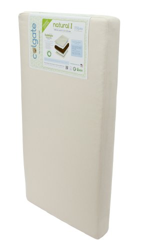 Colgate Natural I - 100% All-Natural Coir Fiber Crib Mattress with Certified Organic Cotton Cover