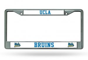 NCAA UCLA Bruins Chrome License Plate - Bruins Car Ucla Flag