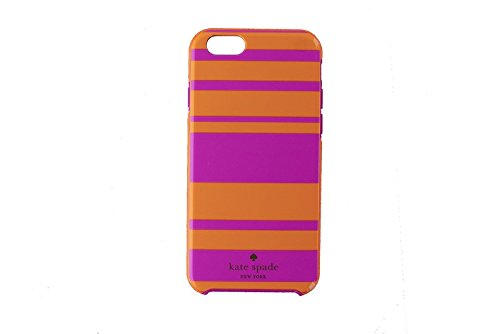 Kate Spade Hybrid Dual Layer Case for iPhone 6 / 6s - Pink / Orange Stripes