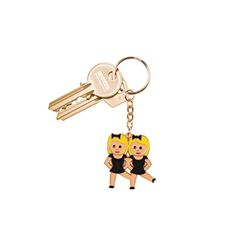 Emokeyrings Emoji Emoticon Key Chain Keychain (Dance)