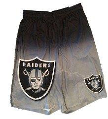 FOCO NFL Oakland Raiders Football Team Logo Gradient Big Logo Training Shorts, Team Color, Large