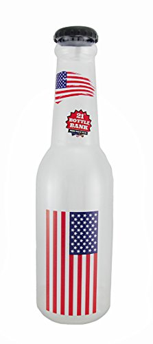 (Zeckos American Flag Jumbo 21 Inch Tall Bottle Coin Bank USA)