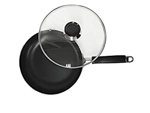 Maxware Classic Aluminum Professional PFOA Free Non-stick Coating 8.5-Inch Skillet with Glass Cover