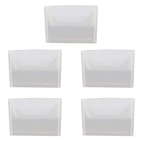 (5pcs Resealable Clear Plastic Seal Bags Storage Case for Cutting Dies Stencil Album Stamp Crafts by Aiyouxi)