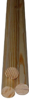 Alexandria Moulding 00233-20096C1 8 ft. Solid Pine Moulding - Full Round, Pack Of 4