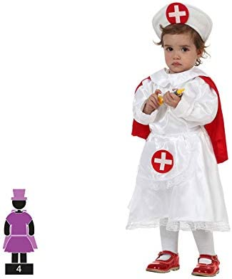 Atosa - Disfraz de enfermera para bebé niña, talla 1-2 años (8422259520627): Amazon.es: Juguetes y juegos