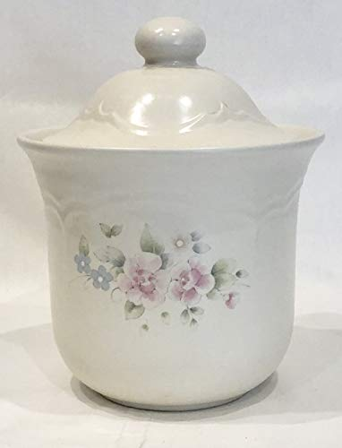 Pfaltzgraff TEA ROSE Cookie Jar / Canister - 7 inches high by 8 inches wide ()