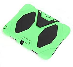 Light Green nd Black SURVIVOR Heavy Duty Shock Proof Protect Hard Case Cover for Galaxy Tab 3 7 Inch