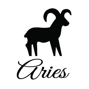 Zodiac Aries Lucky Birth Sign Any Color Decal Notebook Car Laptop Art vinyl Bumper Sticker Decal ()