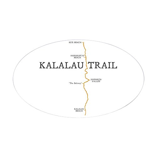 (CafePress Kalalau Trail Sticker (Oval) Oval Bumper Sticker, Euro Oval Car Decal)