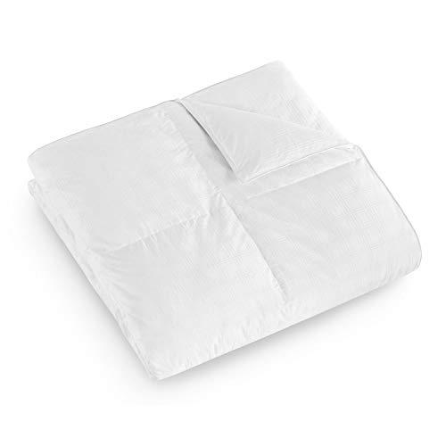 DOWNLITE 600 TC Hypoallergenic PrimaLoft Down Alternative Lofty Striped Super King Comforter