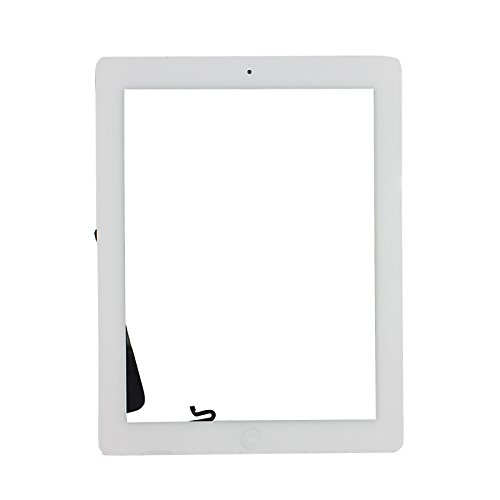 White Touch Screen Digitizer Assembled with Home Button Strong Adhesive for iPad 4 4th Generation