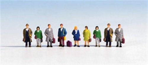 Noch 36220 Travelers W/Luggage 9/ N Scale Figures G1HQJ