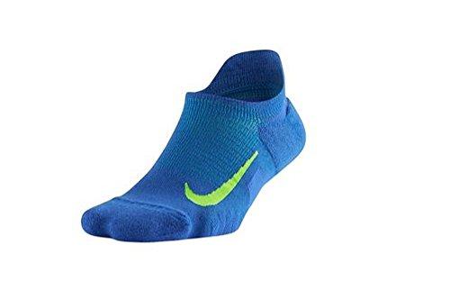 Nike Unisex Elite Wool Cushioned No Show Blue Socks 10-11.5 (M) 11.5-13 (W)