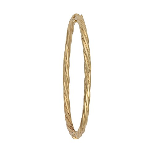 9 ct or jaune Twisted Bracelet creux 4.1 G