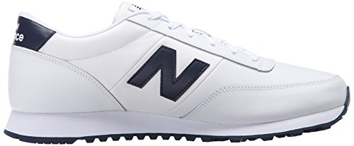 888546344532 - New Balance Men's NB501 Leather Collection Classic Running Shoe, White/Navy, 9 2E US carousel main 6