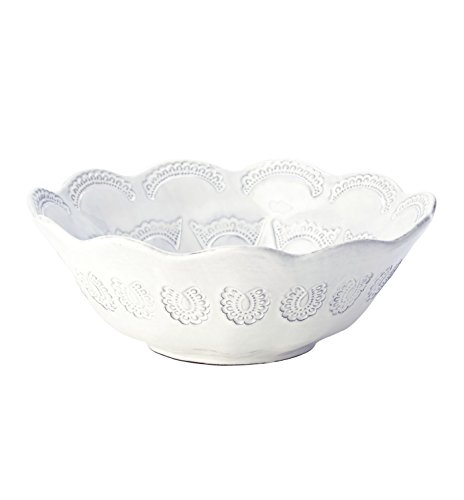 Vietri Ceramic Bowls - VIETRI INCANTO Lace round bowl