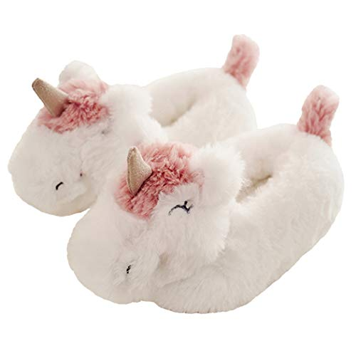 Kid's Cozy Fleece Memory Foam House Trick or Treat Halloween Slippers (10 M US Toddler, Unicorn The Knight)