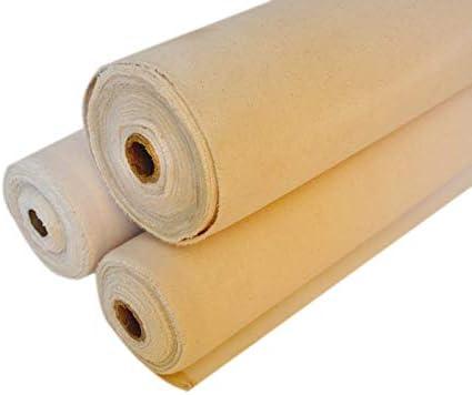 Triple Primed 100/% Cotton Canvas ROLL 10OZ//48 120 cm 11 Yards 490 GSM 10 MTR