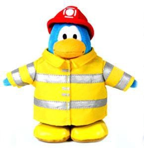 Jakks Pacific Club Penguin Series 1 Firefighter 6.5-Inch Plush Figure