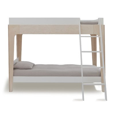 Perch Bunk Bed in Walnut and White