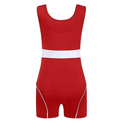 Women's Jumpsuits Shorts, Fashion Sexy Top Short Jumpsuit Rompers Bodysuit One Piece Catsuit for Womens(Red,S)