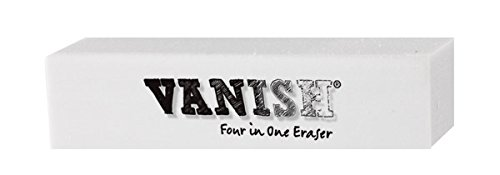 Art Eraser - Vanish 4-in-1 Artist Eraser Replaces Gum Rubber Vinyl and Kneaded Erasers - Individual