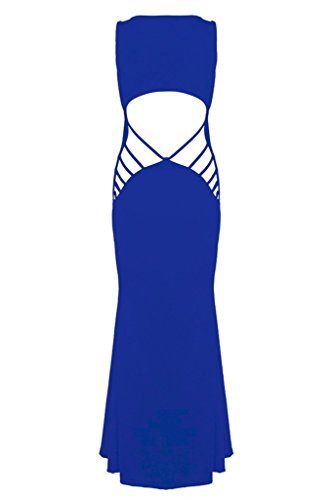 Chase Secret Womens Summer Beach Hollow Out Maxi Club Dress Medium Blue