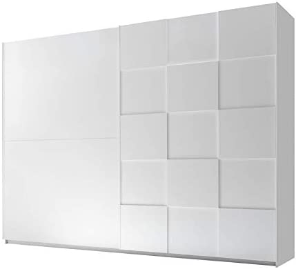 Tousmesmobili - Armario de 2 Puertas correderas, 275 cm, Blanco Mate, 275 x 64 x 210 cm: Amazon.es: Hogar