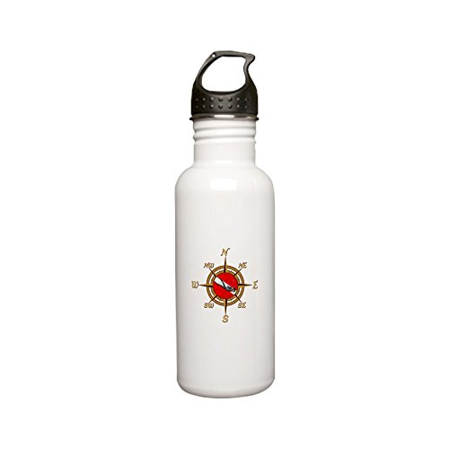 CafePress - Dive Compass Stainless Steel Water Bottle - Stainless Steel Water Bottle, 0.6L Sports Bottle by CafePress