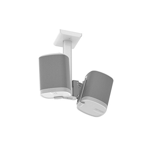 Flexson Double Ceiling Mount for a pair of Sonos Play:1 Speakers (White) by Flexson
