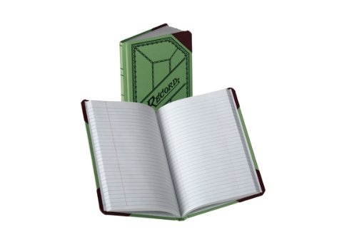 Boorum & Pease Canvas Account Book, Record, 20 Lb., 9 1/2 x 6-Inches, 200 Pages, Olive Green (667-R)