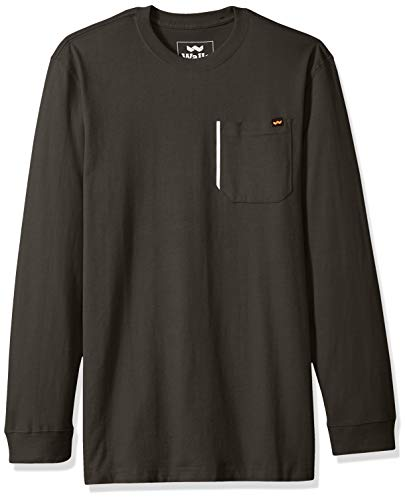 Walls Men's Heavyweight Long Sleeve Cotton Tee, Forest Shadow Extra ()