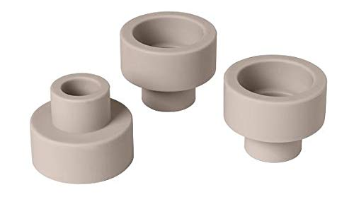 Blomus Trio Candlestick Holder or Tealight Holder - Set of 3 - Rose Dust