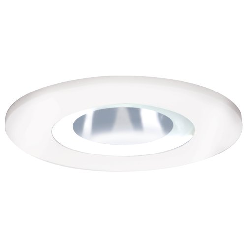 HALO Recessed 3008FG 3-Inch 15-Degree Shower Light White Plastic Trim with Frosted Glass ()