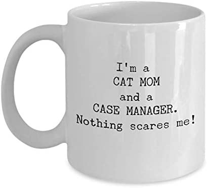 Amazon Com Funny Case Manger Coffee Mug Best Friend Co Worker Christmas Gifts Unique Cool Cute Humor Sarcasm Managers Gift Idea For Executives Employees Boss Cat Mom Novelty 11oz