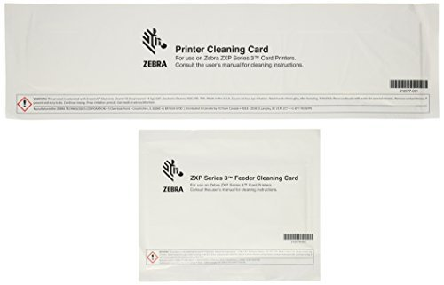 Cleaning Kits CM- 105999-302 for Zebra ZXP 3 Series Card Printer , 1kits/bag(include(4 Print Engine Cards and 4 Feeder Clean Cards)
