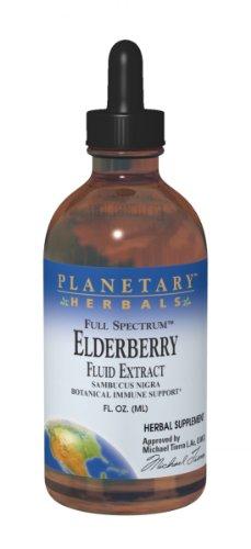 Planetary Herbals Elderberry Fluid Extract Full Spectrum, Botanical Immune Support