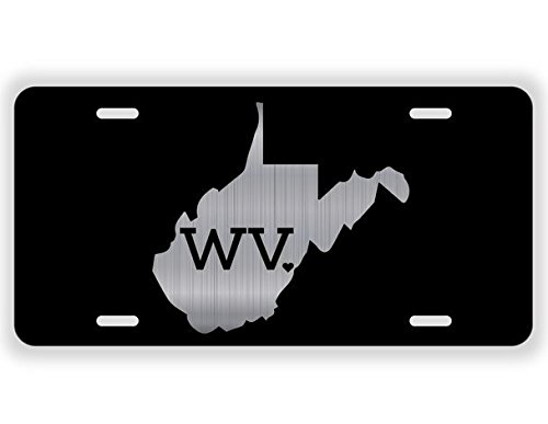 JMM Industries West Virginia State Love WV ♥ Vanity Novelty License Plate Tag Metal 12-Inches by 6-Inches Etched Aluminum UV Resistant ELP033 ()