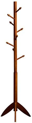 コートスタンドコートスタンド服ラックハットラックウッドフック寝室用オフィス廊下ガレージ自立ブナ175 * 47cm(色:C)