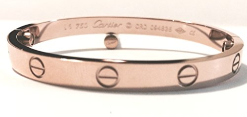 Official Celebrity Cartier Imitation Rose Gold Screw Love Bangle Bracelet Stainless Steel with Screwdriver High...